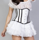 WHITE UNDER BUST CORSETS